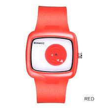 Модные женские часы BOAMIGO, фирменные кварцевые часы для девушек, белые резиновые наручные часы, подарок, часы(China)