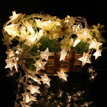 portable battery operated star led string light for Halloween/Christmas party decoration
