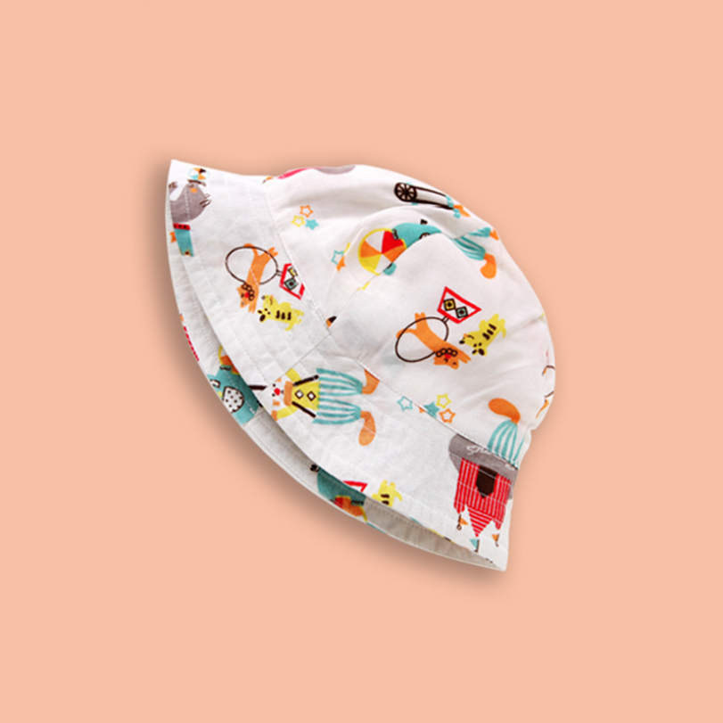 Lovely print flowerpot hat spring and fall 2019 new hat cotton fisherman hat