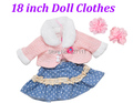 Doll clothes for 18 inch dolls fashionable dress fits for 18 AMERICAN PRINCESS Girl wear doll