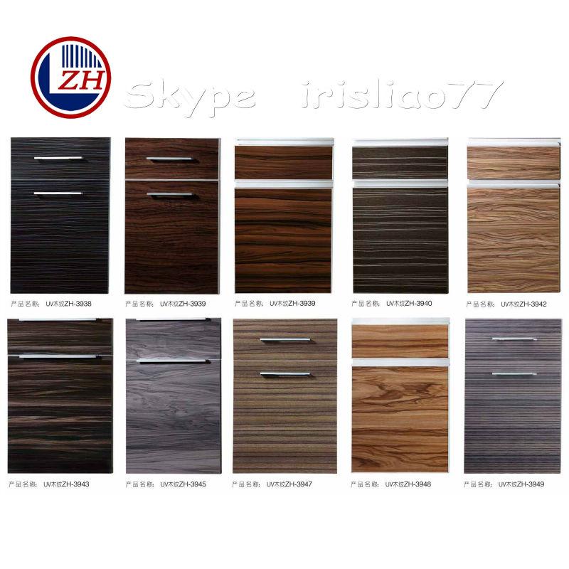 Uv High Gloss Wood Grain Kitchen Cabinet Door Buy Uv High Gloss Door Kitchen Cabinet Door Uv Kitchen Door Product On Alibaba Com