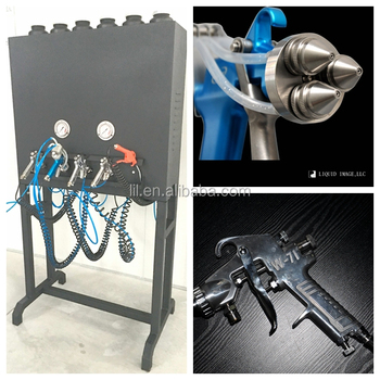 LYH-CPSM106 chrome paint machine kit with single nozzle spray gun,triangle nozzles spray gun
