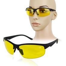 New arrival Plastic + Resin HD High Definition Night Vision Glasses Driving Yellow Lens Classic UV400 free shipping