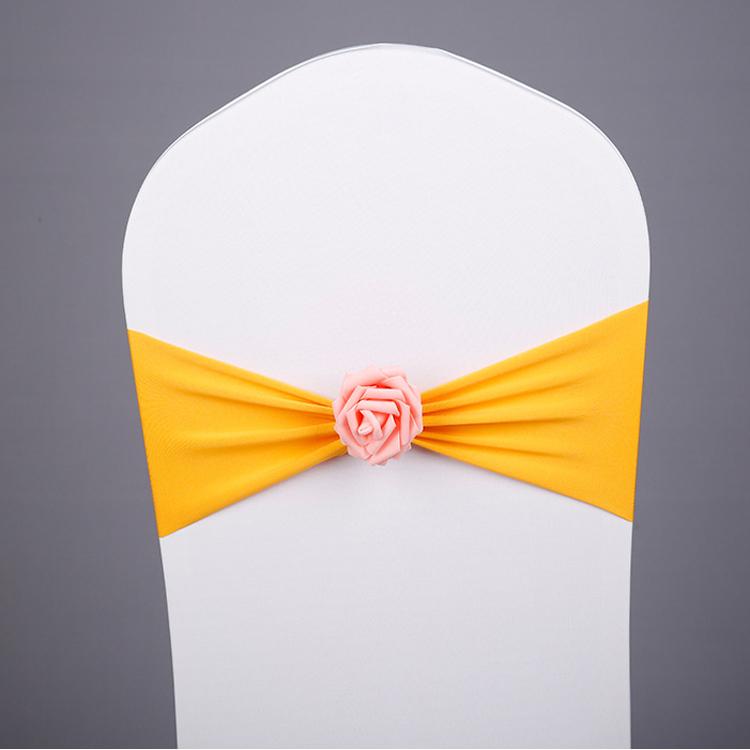 YRYIE рекламная Банкетная лента для стула с цветочным принтом из спандекса для чехлов на стулья