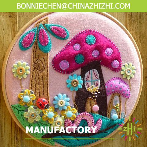 Mushroom natures handmade felt crafts for wall deco
