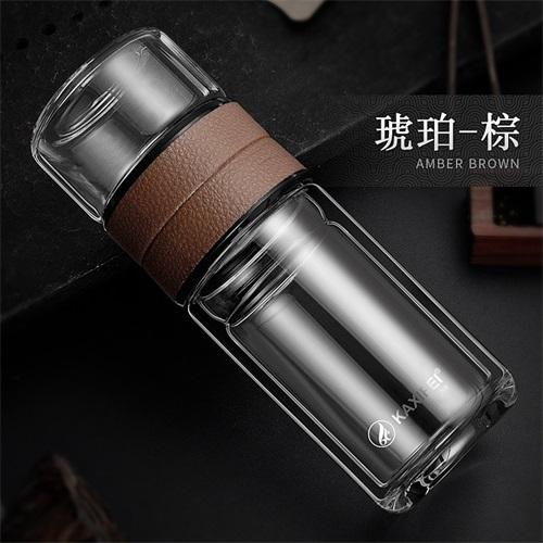 ZOOOBE 2018 двухслойная моя стеклянная бутылка для воды чай для разделения воды фильтр из нержавеющей стали для питьевой воды для бутылок(Китай)