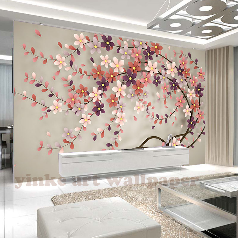 Photo Wallpaper Tree Flower North Europe Style 3d Stereo Mural Wall Paper For Living Room Wallpaper Tv Background Home Decor Buy 3d Wallpaper Wallpaper Home Decoration Wallpaper 3d Product On Alibaba Com