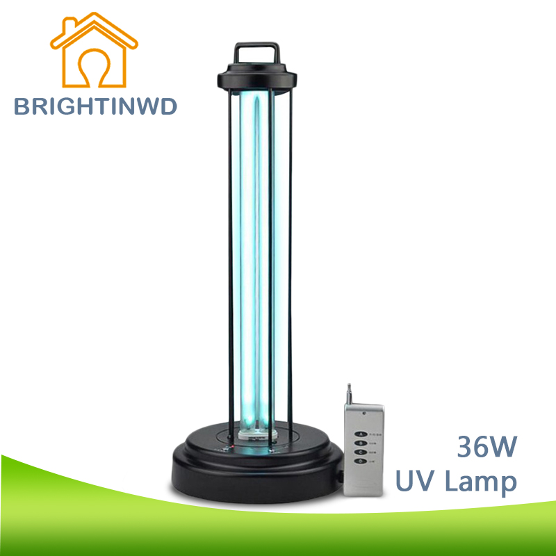 uv lamp mobile ultraviolet germicidal lamp with remote control 36w 220v uv bulb disinfection. Black Bedroom Furniture Sets. Home Design Ideas