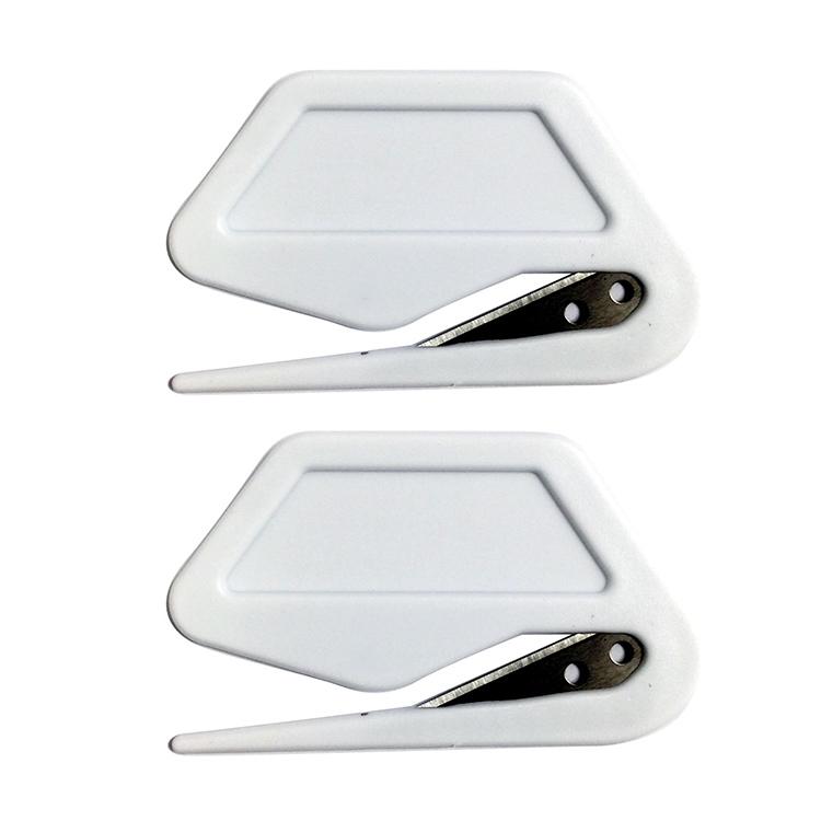 Huaxuan Оптовая поставка, пластиковый нож для открывания букв, белый