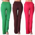 Sports High Waist Women Solid Harem Yoga Flare Pant Belly Sweat pant Elastic Waist Dance Club