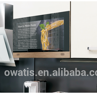 New Style Smart Touch Screen Kitchen Tv For Cabinet Door View Kitchen Tv Owatis Product Details From Shenzhen Owatis Technology Co Ltd On Alibaba Com