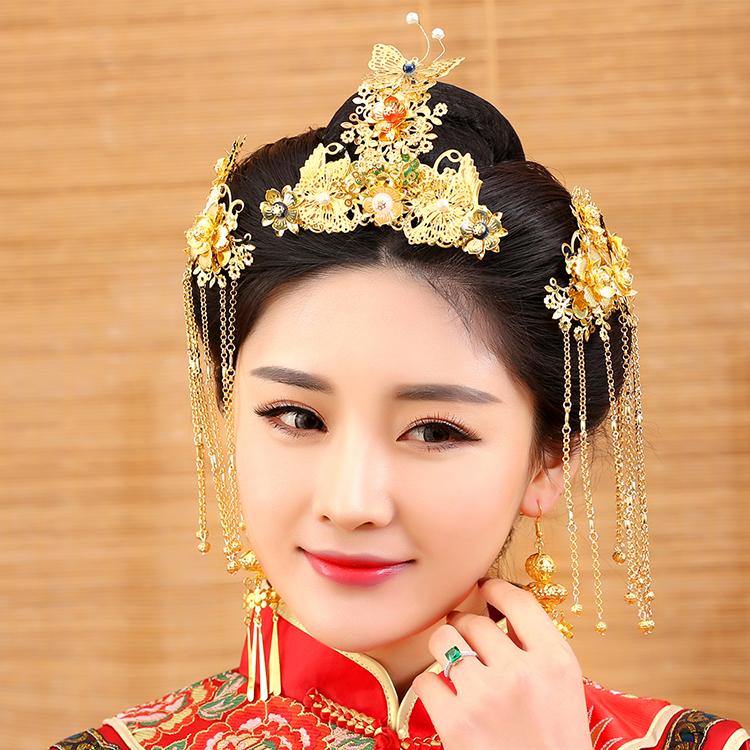 Wedding Hairstyles Chinese: Dou Kou Traditional Chinese Wedding Bride Hair Tiaras For
