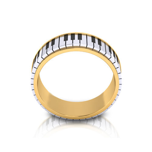 2015 Latest Jewelry 316l Stainless Steel Plated Gold Piano
