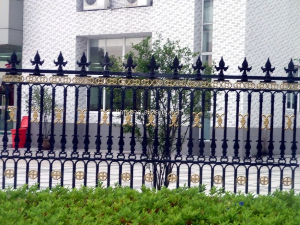 Outdoor Decoration Application Forged Iron Fence Design