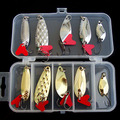 10pcs box Spoon Fishing Lures Metal Lure Kit iscas artificias Hard Bait Fresh Water Bass Pike