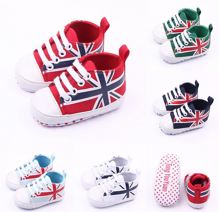 Spring Autumn New British Style Soft Non slip First Walkers 0 12 Months Unisex Baby Canvas