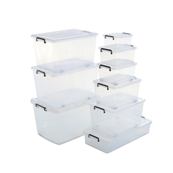 5-130L New Design Eco-Friendly Custom Printed Clear Plastic Storage Box