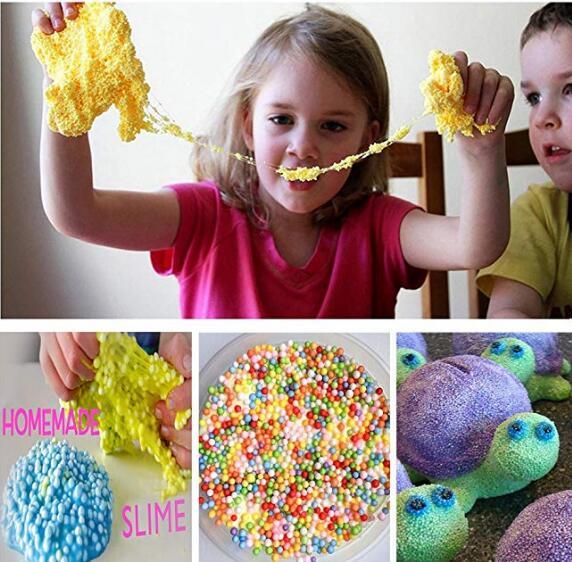 ZJTOYS, бусины из пенопласта, пенопластовые шарики для изготовления слайма, Набор для творчества, домашнее искусство, вечеринка для девочек