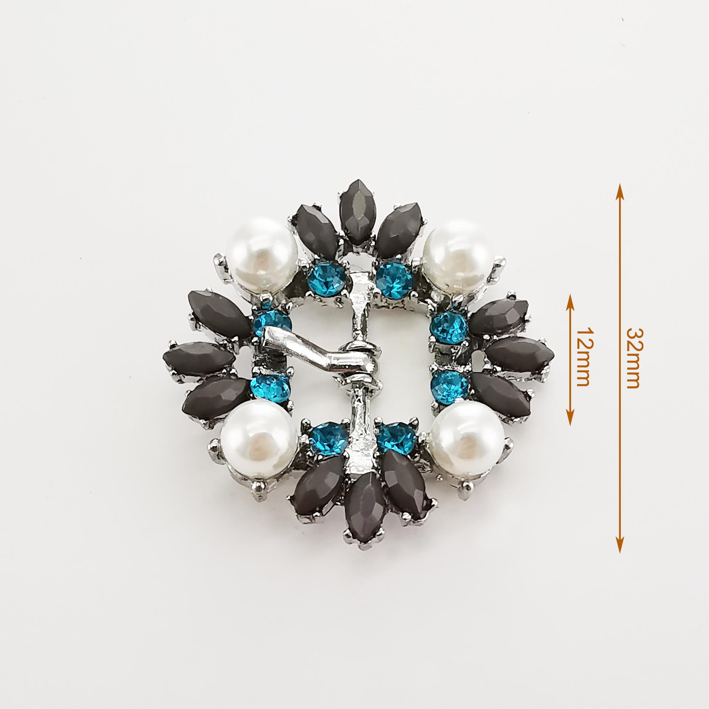 crystal stone rhinestone pearl  shoe  buckle  decoration