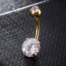 Богемное кольцо из нержавеющей стали с пуговицами для живота, ювелирное изделие для пирсинга, Кристальные камни, пупок, пупка, пупочный гвоз...(Китай)