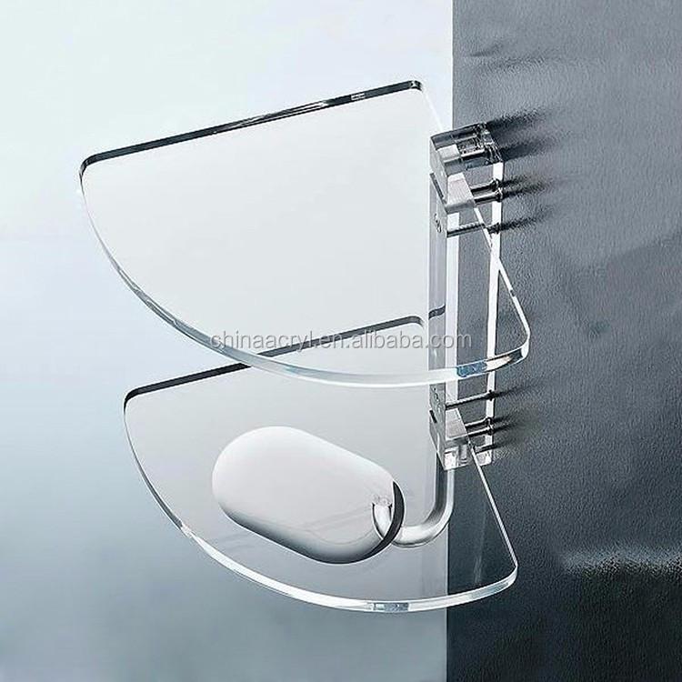 Premium Home Decor Clear Lucite Bathroom Accessories Shelf
