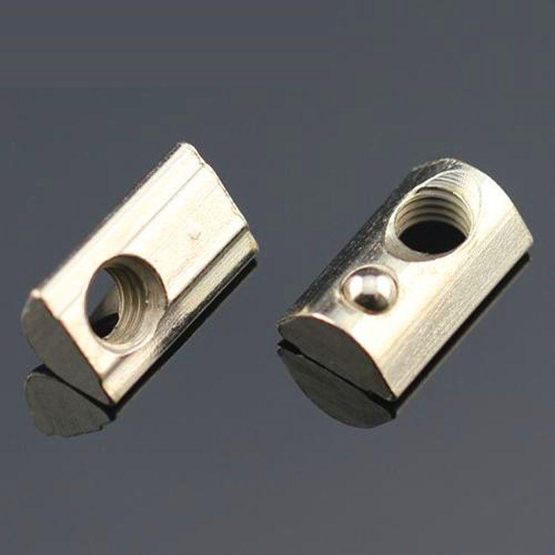60pcs m4 m5 elastic nut spring loaded tee nut half round v slot linear extrusion 20 aluminum. Black Bedroom Furniture Sets. Home Design Ideas