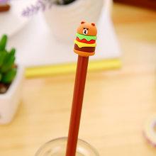 Корейская Милая Канцелярия мультфильм торт гамбургерская нейтральная ручка 1 шт. Студенческая ручка с черным ядром гелевая ручка Милая ста...(Китай)