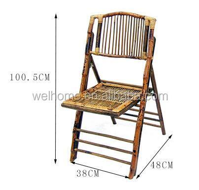 Уличный бамбуковый складной стул хорошего качества