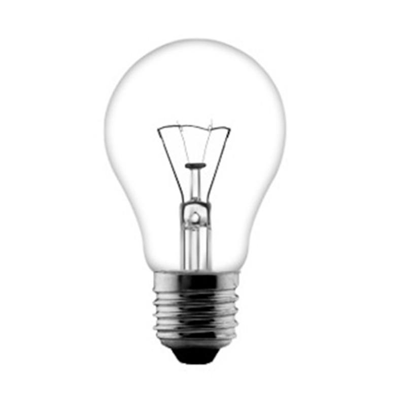 clear E27 incandescent bulb 25W 40W 60W 110V