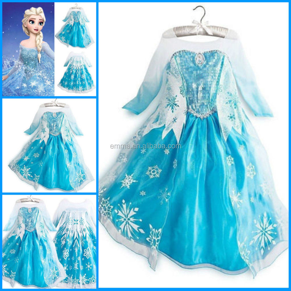 ... BC242 BC241  sc 1 st  Alibaba & Princess Frozen Queen Elsa Costume Cosplay Tulle Girls Dresses ...