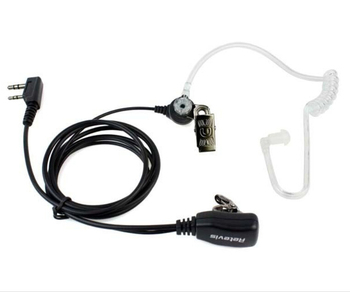 Retevis PTT MIC hidden Acoustic Tube In-ear police radio Earpiece Headset for KENWOOD BF-888s HYT