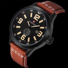 Hot Fashion Men Sports Watches Men's Quartz Hour Date Clock Man Leather Strap Military Army Waterproof Wrist Watch Male Relogio