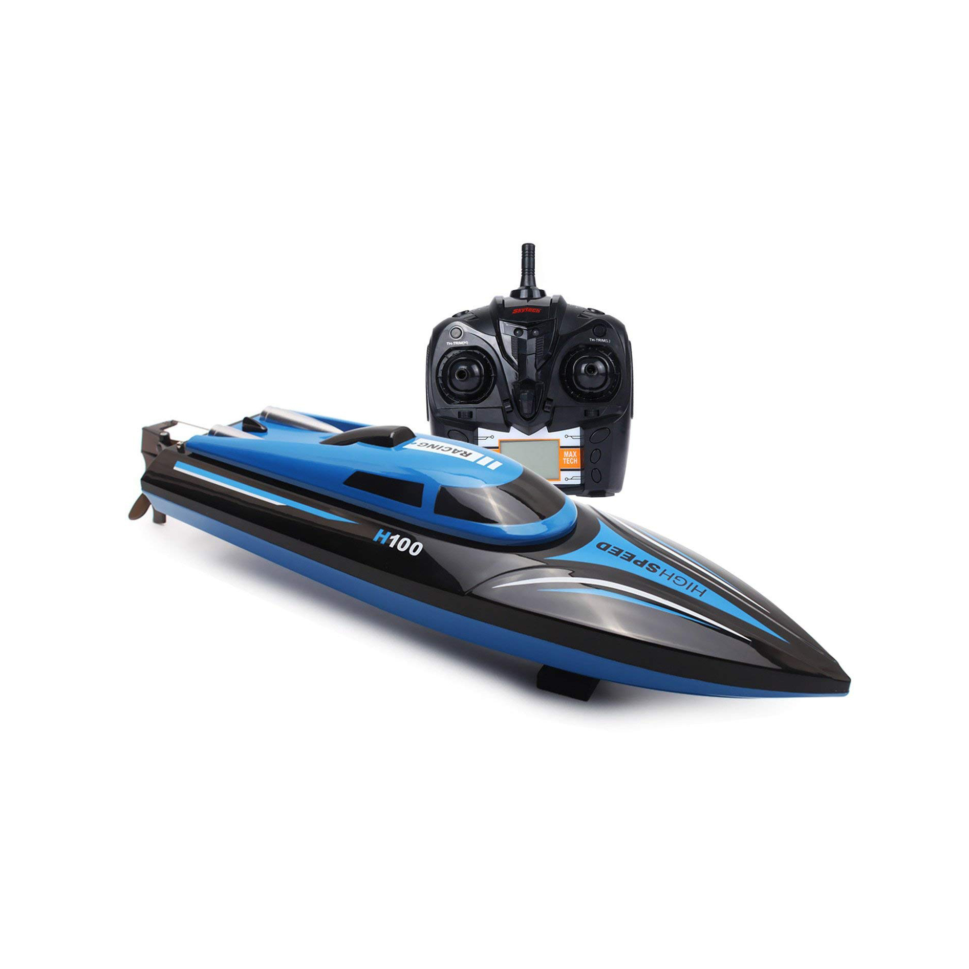 2.4GHz Electric RC Boat 4 Channels Remote Control Racing Boat 25KM//H High Speed