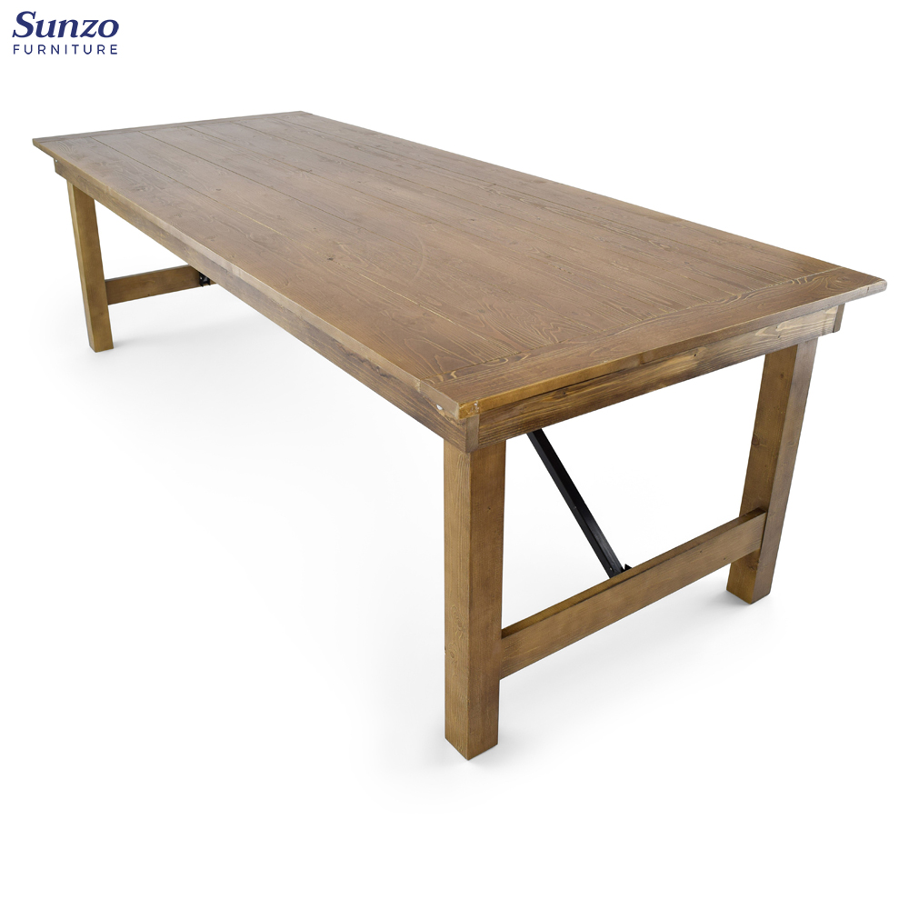 Wholesale Pine Wood Wedding Event Farmhouse Dining Tables   Buy ...