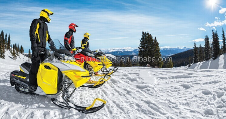 Snowmobile Rubber Track, Small Snow Rubber Track for Winter, Rubber Crawler Track Direct Factory Price
