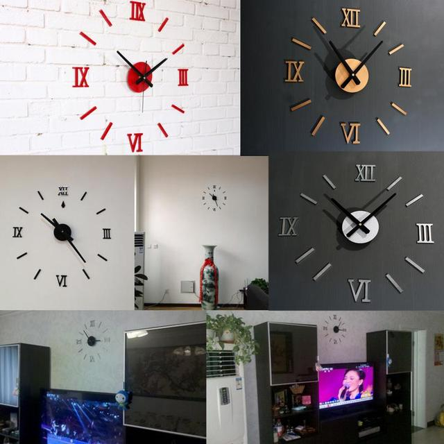 grande horloge murale design pas cher grande horloge. Black Bedroom Furniture Sets. Home Design Ideas