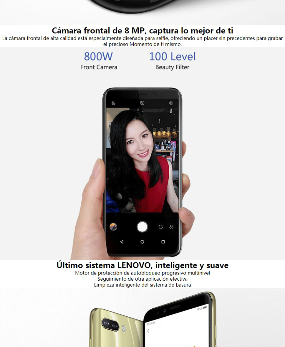 Lenovo K5 Play 5 7 Inches Snapdragon MSM8937 Octa-Core 4G Mobile Phone With  3GB RAM 32GB ROM, Face ID Function Gold