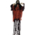 High Quality Life Size Halloween Creepy Hanging Plastic Skeleton Outdoor Halloween Decoration