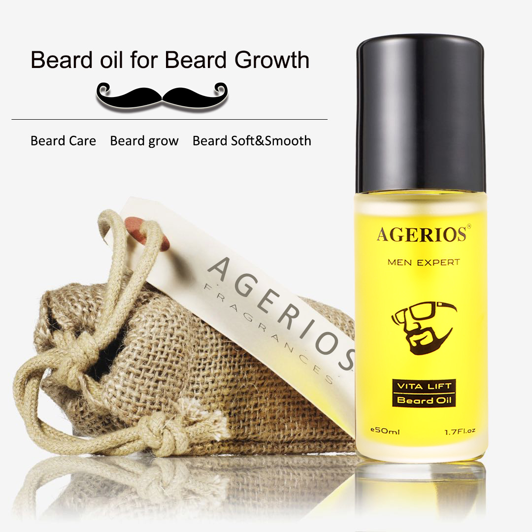 100% Natural Scent Private label Leave-in Conditioner Mens beard oil