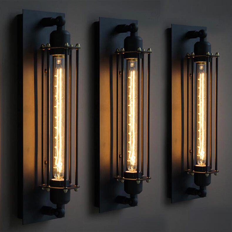Black Long Design Indoor Iron Led Industrial Vintage Wall Sconce Lamp Buy Industrial Vintage Wall Lamp Black Iron Wall Lamp Led Industrial Wall Lamp Product On Alibaba Com