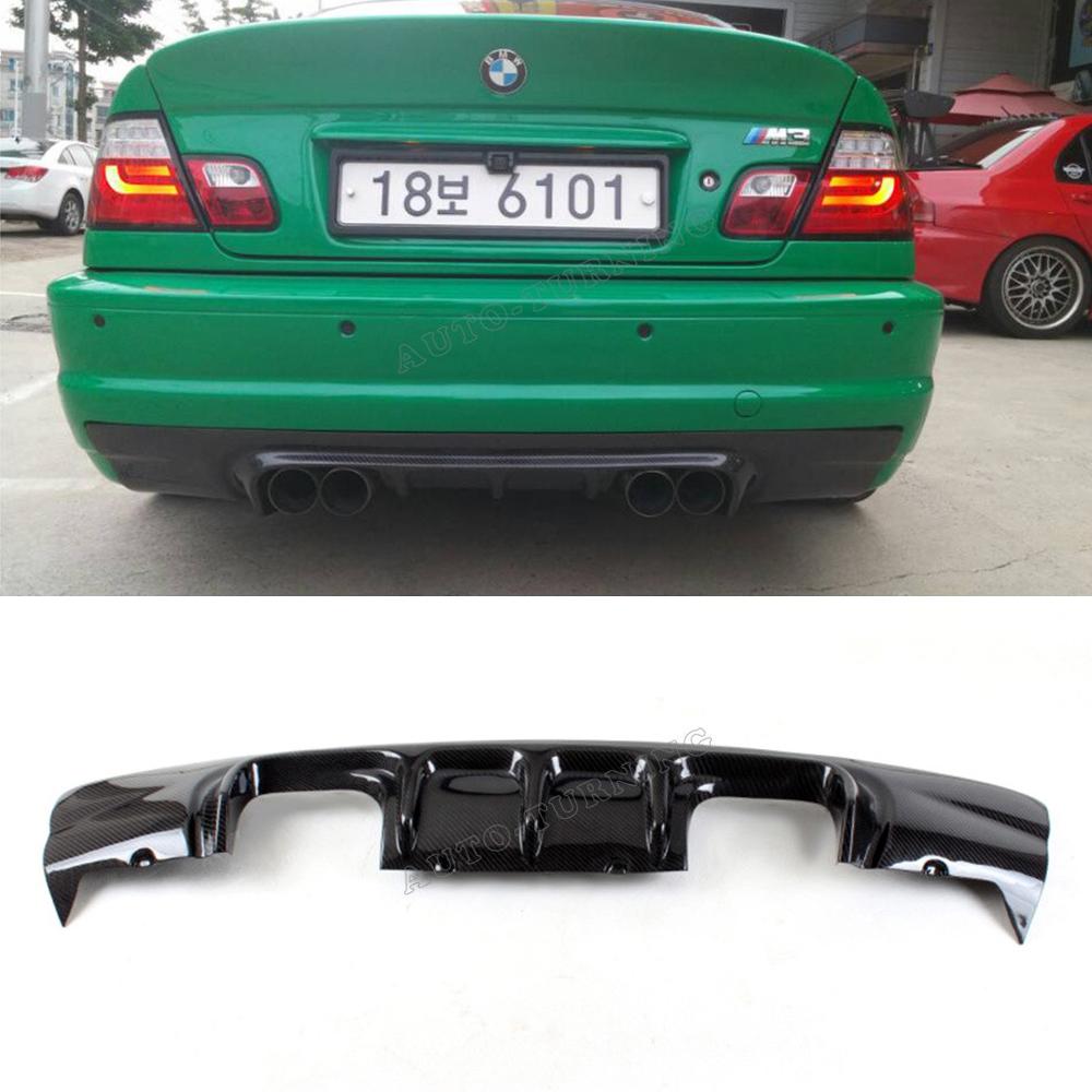 e46 car styling carbon fiber rear diffuser bumper lip for. Black Bedroom Furniture Sets. Home Design Ideas