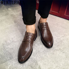 Деловая обувь; мужские оксфорды; кожаные оксфорды; мужские деловые туфли; элегантные туфли для мужчин; свадебные модельные туфли; модель 2019 ...(China)