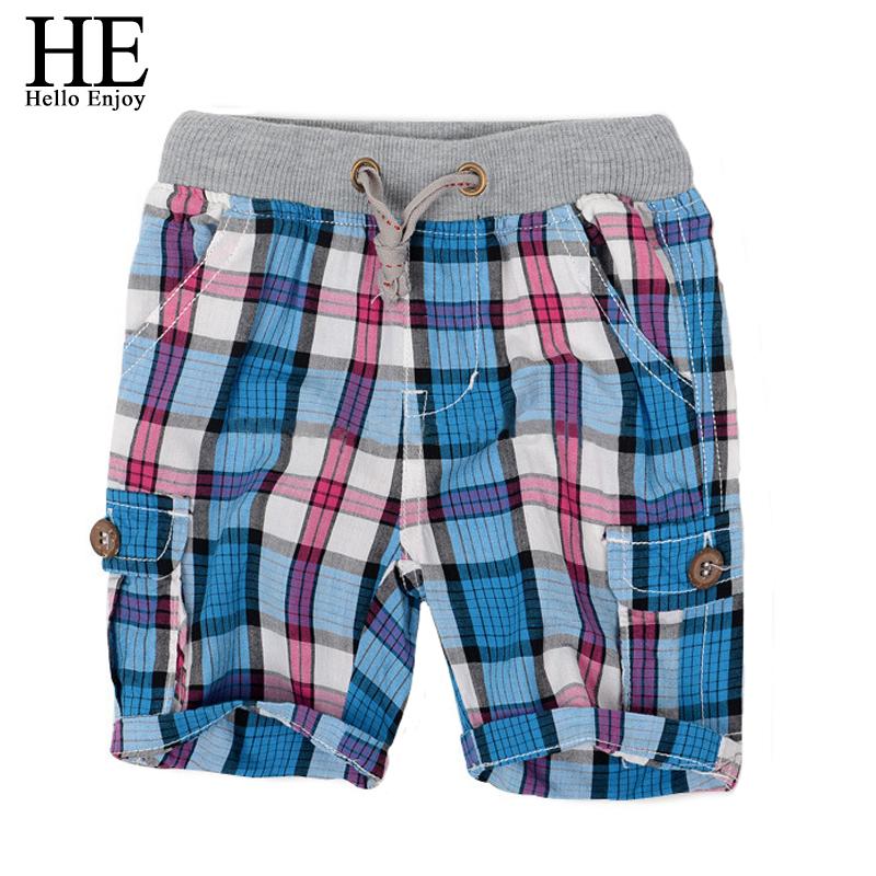 Retail 2016 fashion plaid baby boys shorts summer children chothing kids boys trousers free shipping