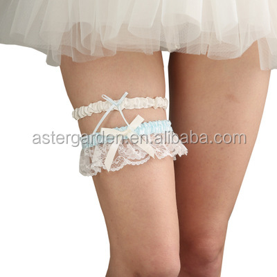 Европейские свадебные кружевные подвязки с бантом для невесты