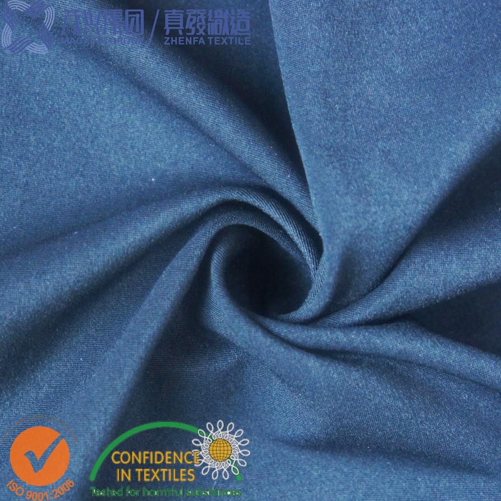 85% Nylon 15% Spandex Elastane Interlock Lycra Knitted fabric in Black
