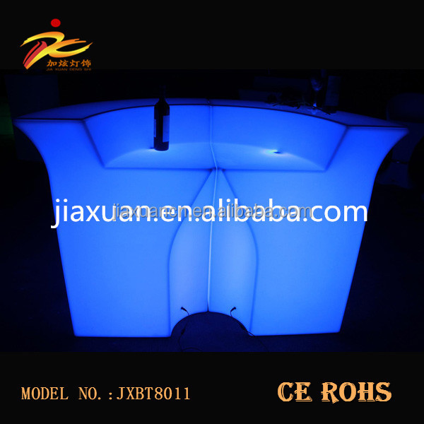 CE&ROHS PE plastic light up portable bar counter/led bar furniture for bar,party ects