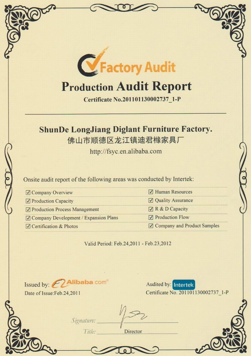 Alibaba Factory Audit