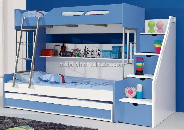 enfants meubles lits superpos s avec tiroirs et escaliers lit d 39 enfant id de produit 60240131376. Black Bedroom Furniture Sets. Home Design Ideas
