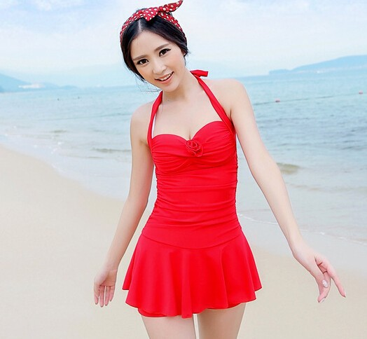 06a7c55ac585b5 2019 Wholesale 2015 Womens One Piece Swimsuits With Skirts Cheap ...