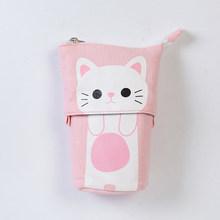 Креативный милый чехол-карандаш с котом, кавайные Мультяшные карандаши на молнии, коробка с ручкой, канцелярские принадлежности для школьн...(Китай)